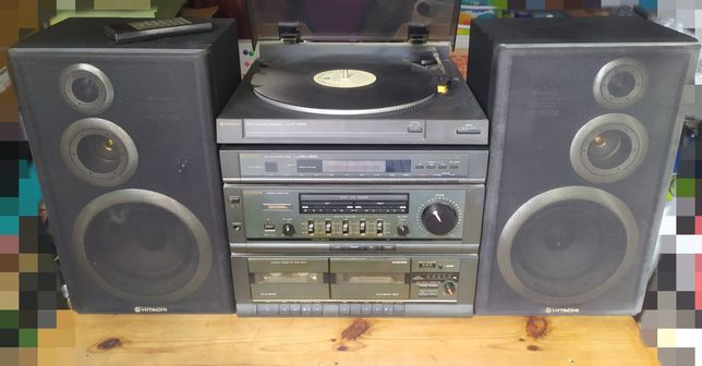 Wieża Hitachi HRD-MD04 gramofon HT-MD03 SuperWoofer3D HS-05W MD05 1989