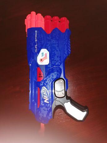 Pistolet nerf dual-strike