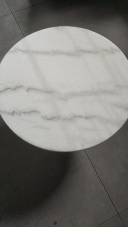 Blat stolika kawowego Marmur 50cm bialy