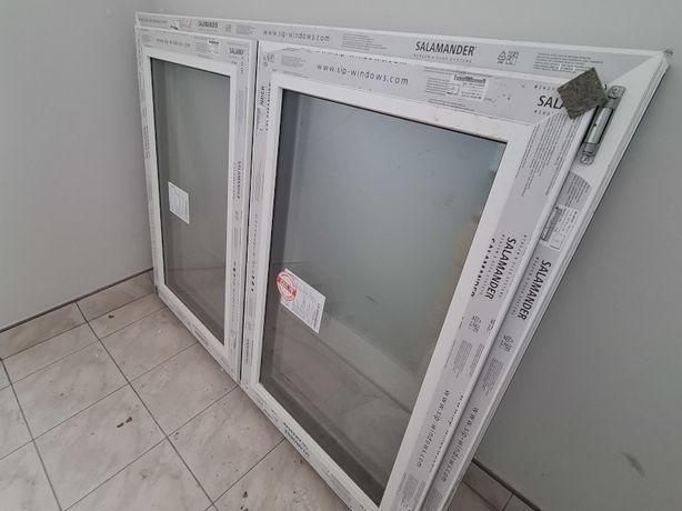 Okno dwuskrzydłowe PCV 145x110cm