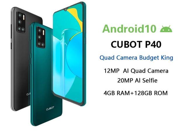 "Cubot P40 4/128Гб, NFC, Android 10, 6.2"" HD IPS, новый, в наличии"