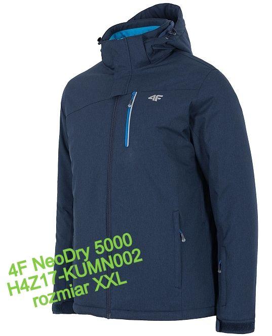 nowa męska kurtka zimowa 4F NeoDry 5000 r. XXL narciarska Kruszewnia - image 1