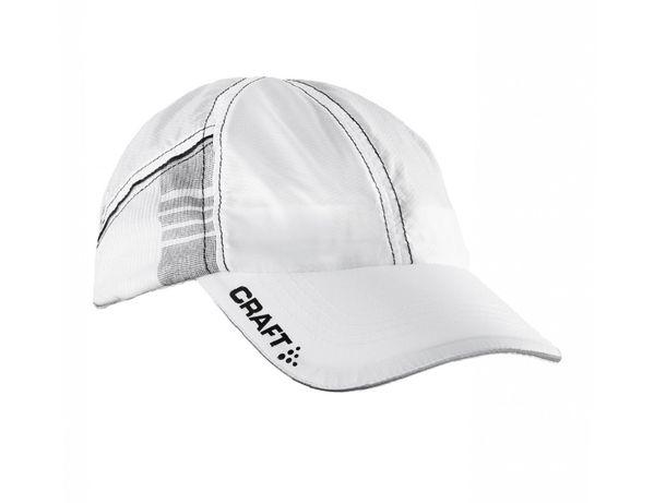 Biała czapka z daszkiem, biegowa, Craft, uniseks, NOWA