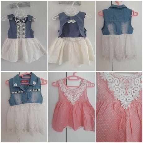 Letnie sukienki dla dziewczynki 9-24mc