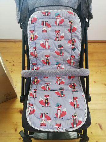 Wkładka do wózka spacerowego 100%bawełna liski i gwiazdki uniwersalna