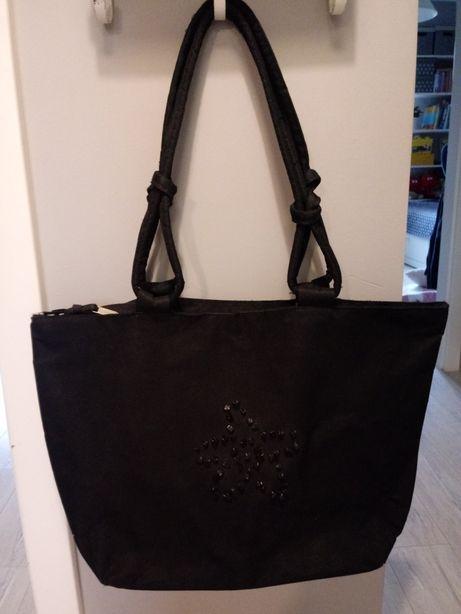 Czarna torba 50x32+30cm uszy