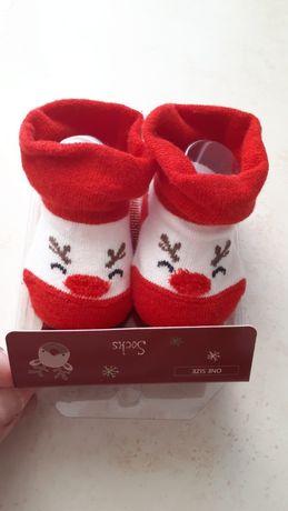 Skarpetki niemowlęce chłopięce świąteczne cool club rozmiar one size