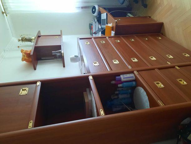 Sprzedam meble szafa narożna komoda  2 słupki  biurko szafka wiszaca