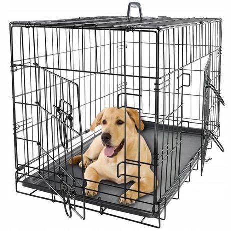 DUŻA KLATKA METALOWA kojec dla psa zwierzęta transport buda