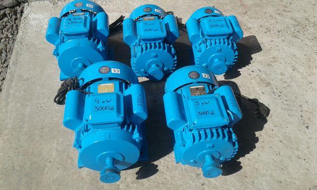 Електродвигун 1.5, 2.2, 3, 4 кВт 220В электродвигатель електромотор
