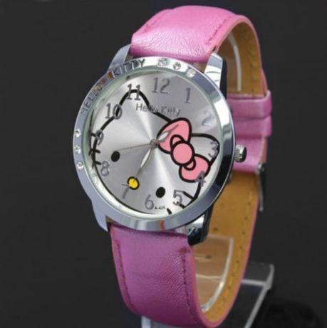 R0135 R0136 R0137 Relógio Senhora e Criança Hello Kitty Bracelete Pele