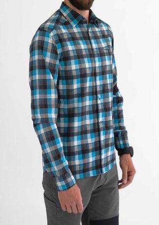 Camisa CR-Club Ride-Cor-Scuba Blue Plaid-Fabric-95% Poly/5% Spandex