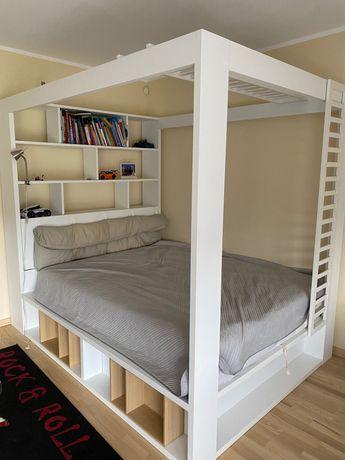 Łóżko młodzieżowe VOX z baldachimem 160 cm szerokości