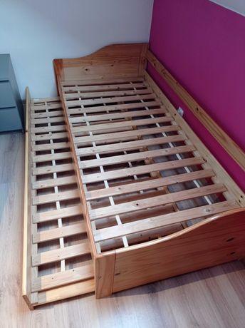 Łóżko z wysuwanym drugim spaniem