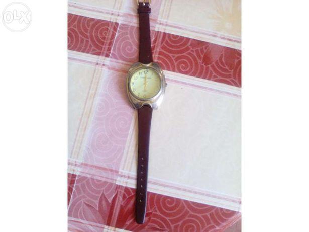 Relógio de pulso, antigo, Chen chuang, bracelete de pele genuína, com