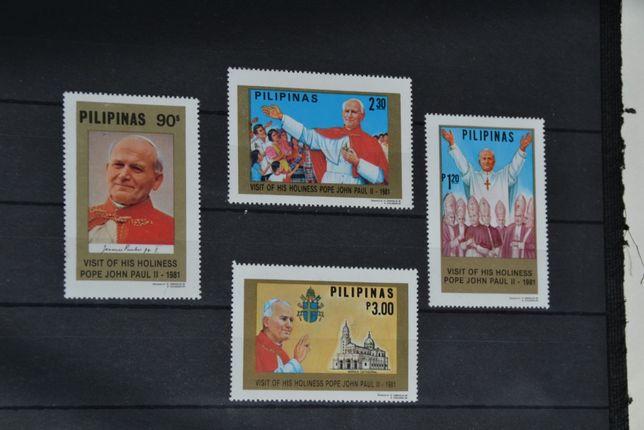 Znaczki. Filipiny. Papież Jan Paweł II **