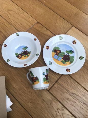 Набір посуди дитячий посуд скло