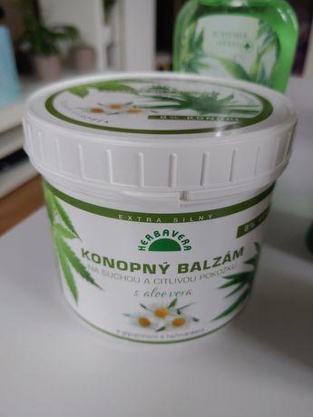Balsam konopny 500 ml dla skóry suchej i wrażliwej na bazie konopi