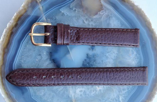 Bracelete 14mm em pele castanha, nova vintage