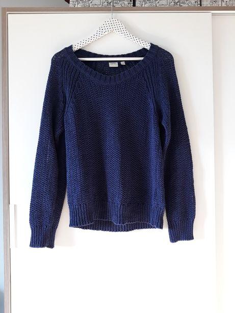 Granatowy sweter Esprit gruby splot