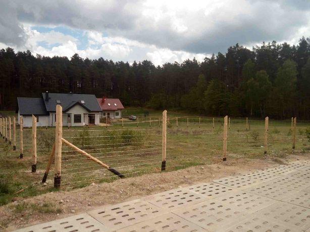 Ogrodzenie tymczasowe,SOLIDNE SŁUPKI,siatki lesnej,lesne,budowlane,