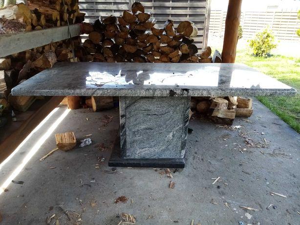 Granitowy stół pod altanę viscount biały granit 200x120