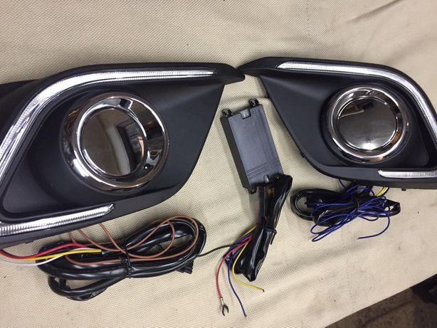 Mazda 3 bm 2014-2015 LED накладки туманки птф мазда 3 бм 2013