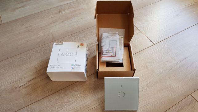 Włącznik światła WiFi RF433 szklany Alexa Google Home pojedynczy NOWY