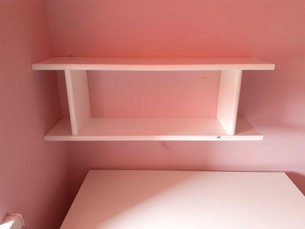 Półka wisząca biała 28x20x80