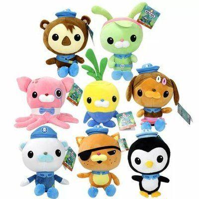 Мягкие игрушки из мф Октонавты, Пейзо, Квази, Шеллингтон