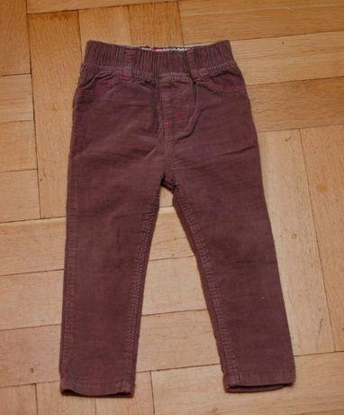 Spodnie rurki sztruksowe 86cm, 1- 1,5 roku