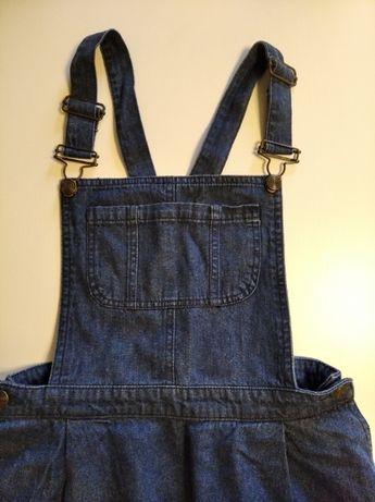 Jeansowa sukienka ogrodniczka