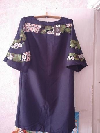 Красивые новые платья с вышивкой