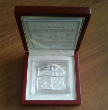 Srebrna moneta 4x 10zł Euro 2012 stan menniczy Mistrzostwa Europy