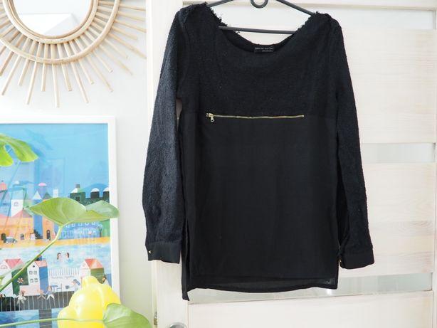 Bluzka koszula Zara mgiełka elegancka zip