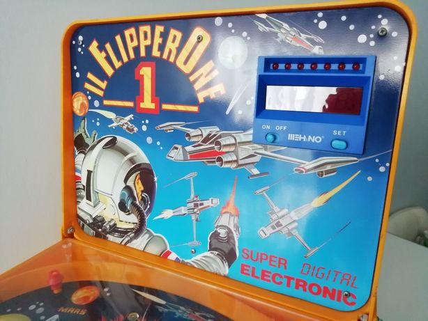 Flippers vintage tema espacial anos 80