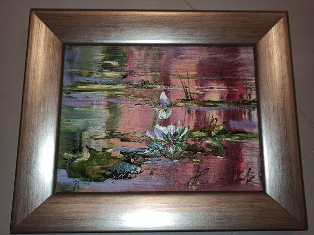 Obraz lilie wodne
