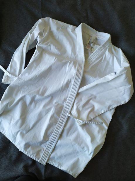 Carate Kimono + calça branca + cinto branco - size 1,80 cm