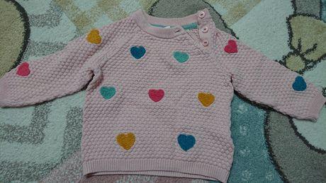Sweterek w serduszka h&m 68