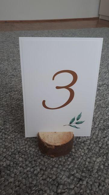 Drewienka podstawki na ślub, na numery, na menu, wesele, boho