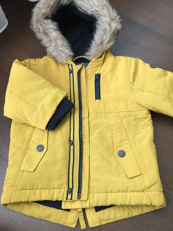 Зимова парка, одяг для хлопчика 9-12 міс, джинси, безрукавки ,жилетка