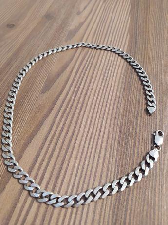 Srebrny gruby łańcuszek typu pancerka, srebro 925