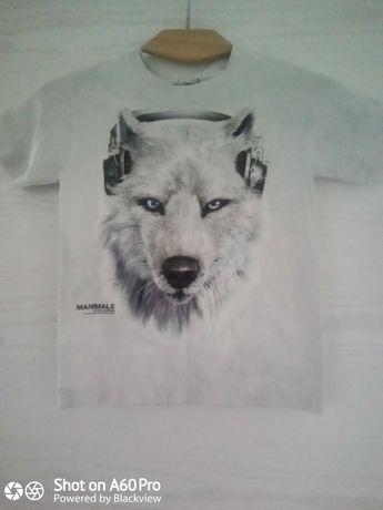 3D футболка the mountain  Волк Диджей.Детская.Р34-36. США.Хлопок.Новая