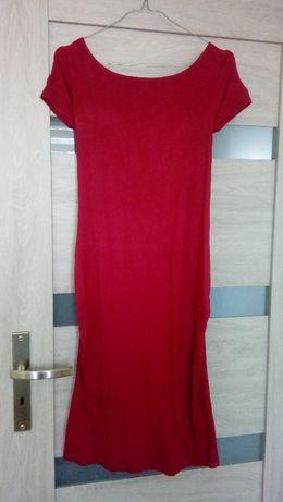 Sukienka ciązowa My tummy M malinowa róża piękne plecy