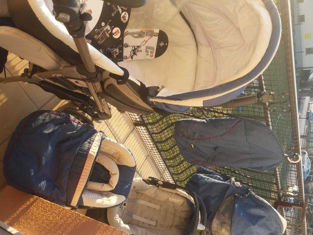 Wózek Chicco gondola, spacerówka parasolka i dwa foteliki+ 3 gratisy