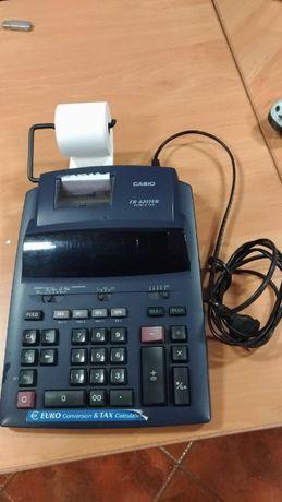 Calculadora Casio com rolo, 230 V, em otimo estado, funciona a 100%