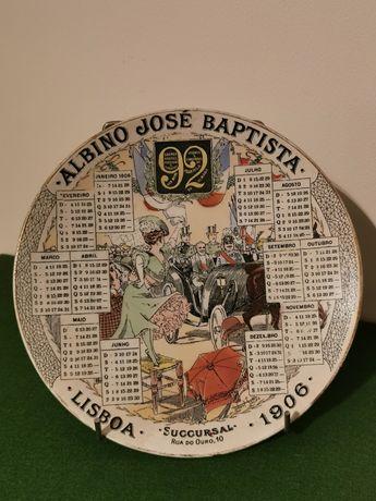 Pratos calendário - Albino José Baptista (1906 e 1910)