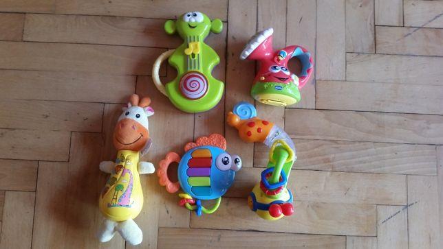 Zestaw 5 zabawek grających i wydających dźwięki w bardzo dobrym stanie