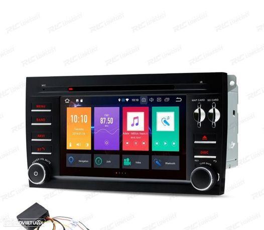 "AUTO RADIO DVD GPS LCD TÁCTIL 7"" PORSCHE CAYENNE ANDROID 9.0 + INTERFACE FIBRA"