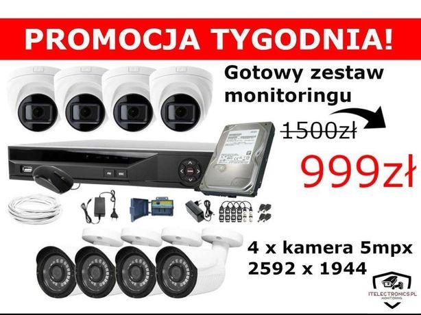 KOMPLETNY Zestaw kamer MONITORING 4-32 kamery monitoring KAMERA